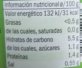 Macedonia de verduras - Información nutricional