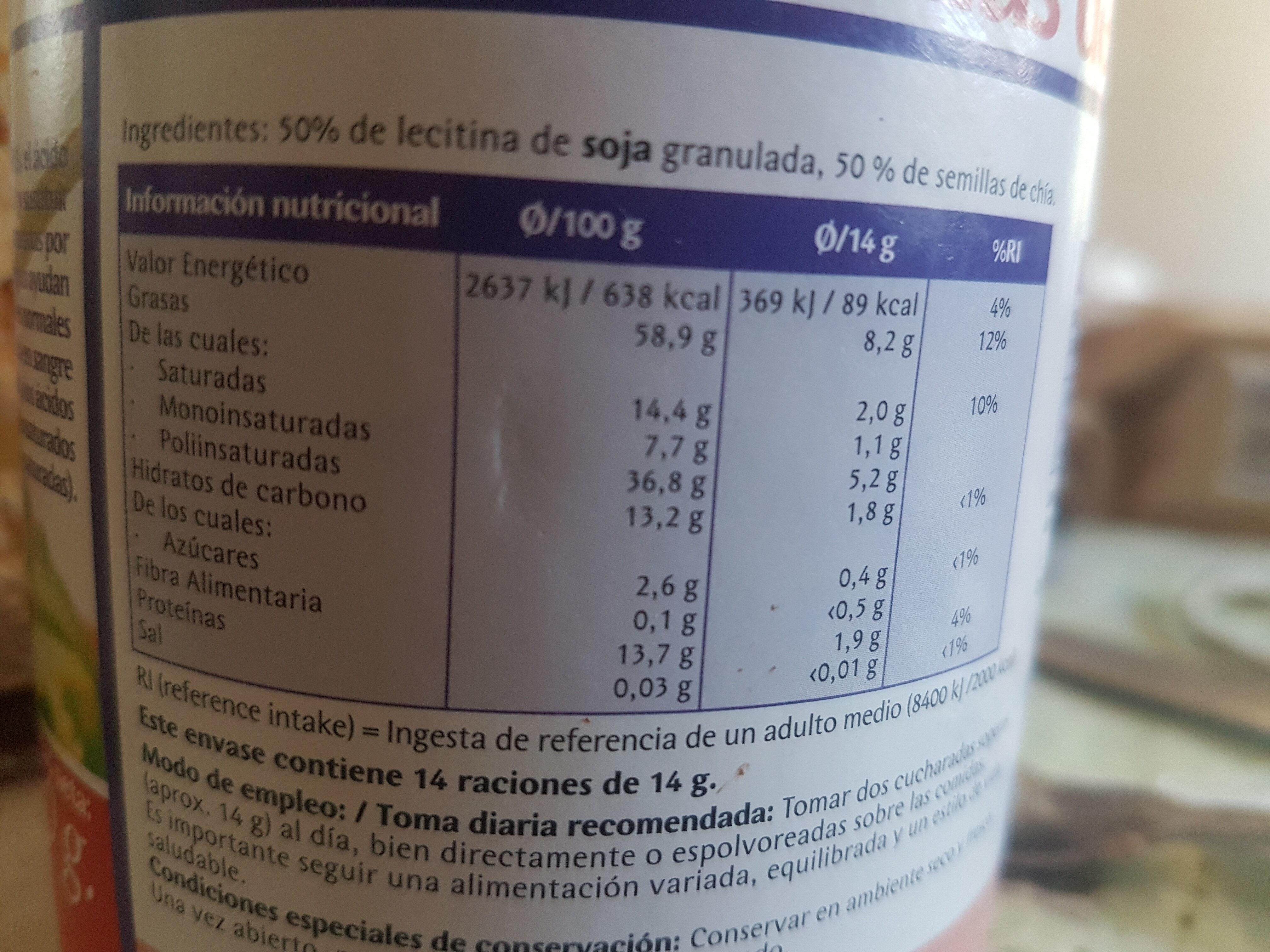 Lecitina de soja - Ingrédients - es