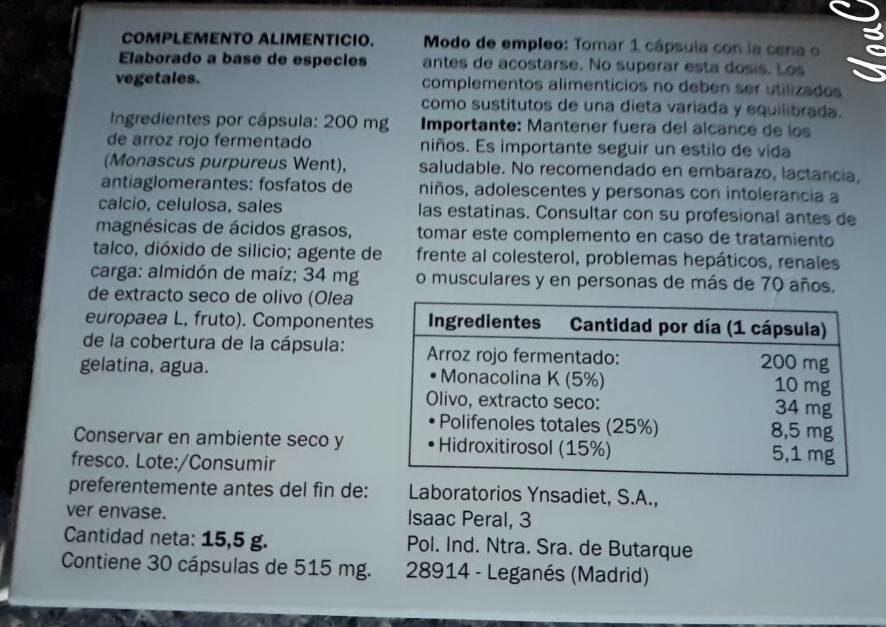 Colesterol - Informations nutritionnelles - fr