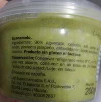 Guacamole - Ingrediënten - es