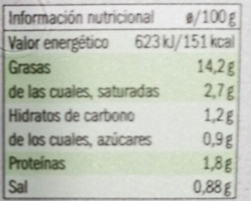 Guacamole - Voedingswaarden - es