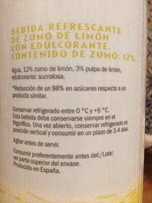 Solevita Limonada Light - Ingredients - es