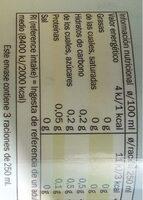 Limonada light - Informations nutritionnelles - es