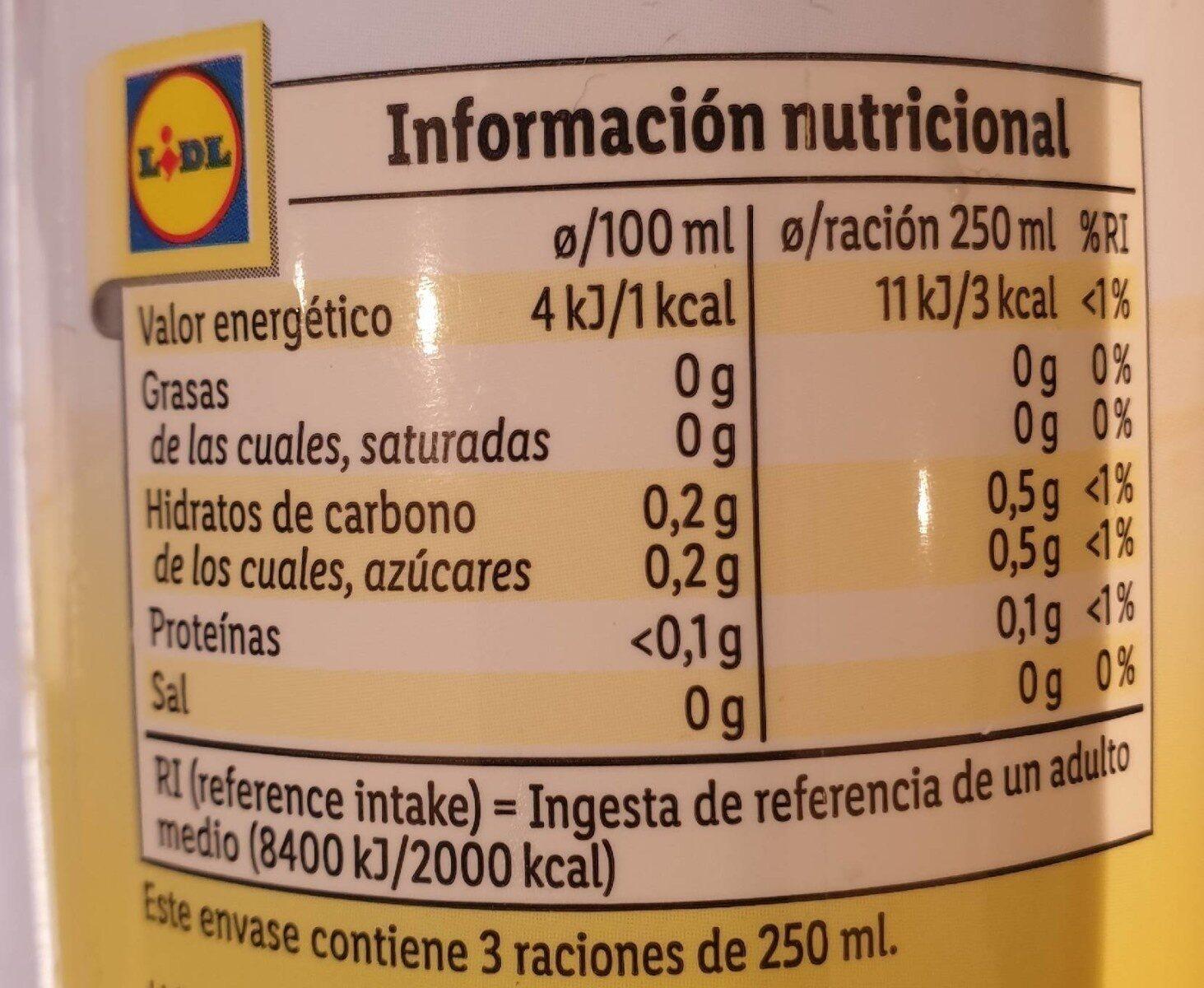 Solevita Limonada Light - Nutrition facts - es