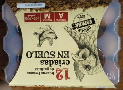 12 Huevos frescos de gallinas  criadas en suelo - Producto
