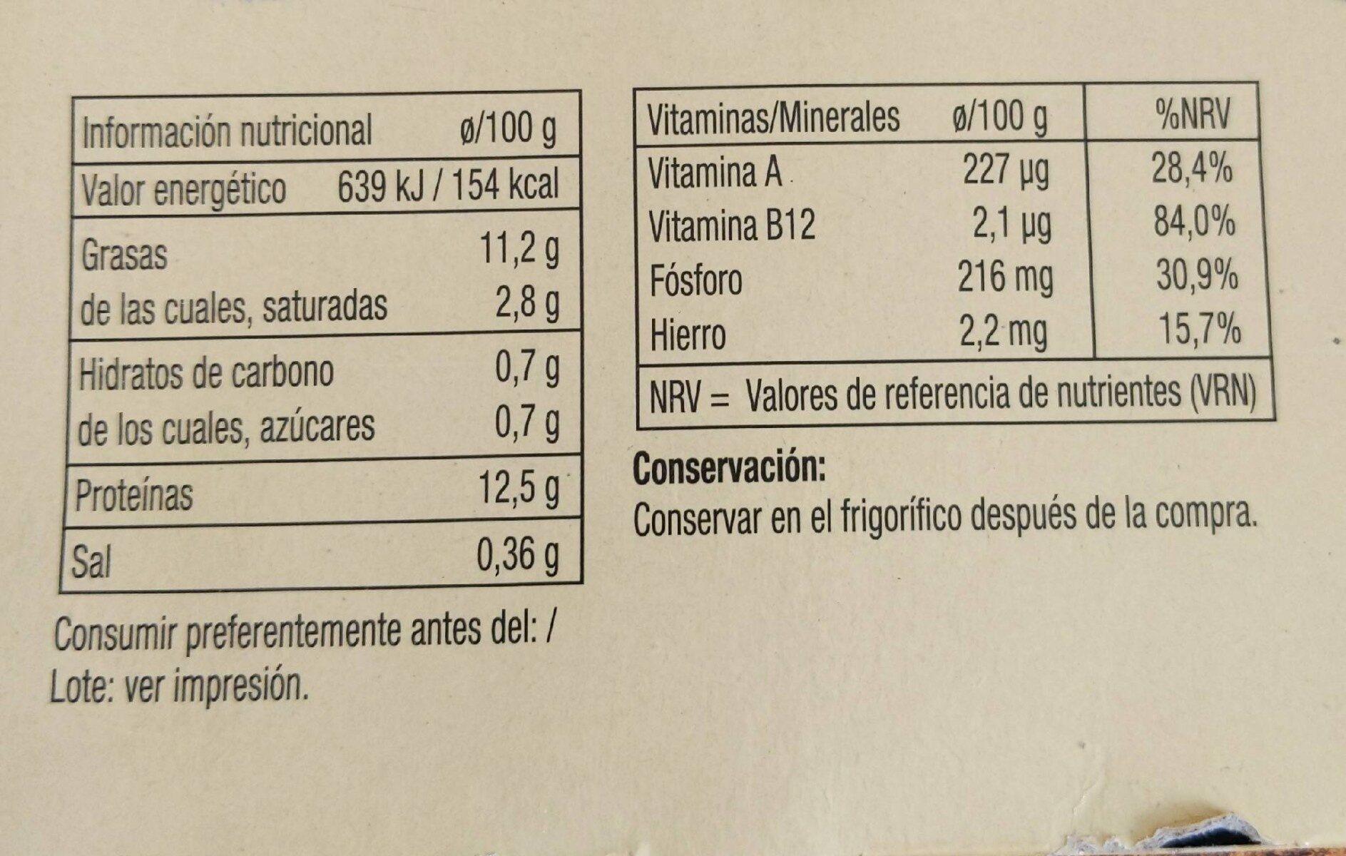 12 Huevos criadas en suelo - Información nutricional - fr