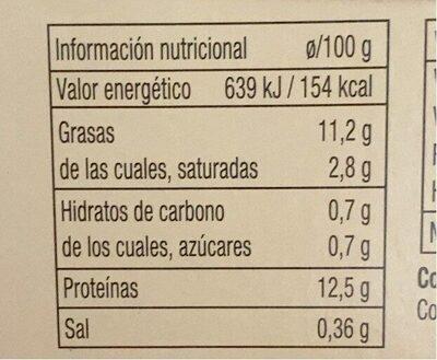 Huevos frescos de gallinas criadas en suelo - Informació nutricional - es