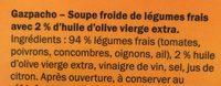 Gazpacho - Ingrédients - fr