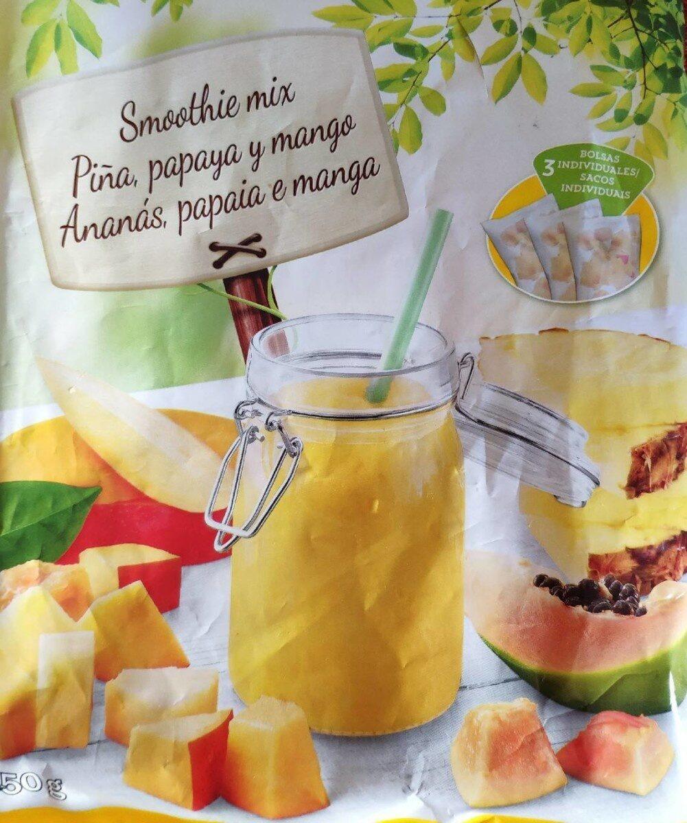 Smoothie Mix - Piña, papaya y mango - Produit - es