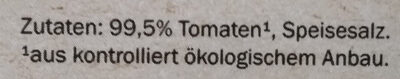 Passierte Tomaten Bio - 成分 - de