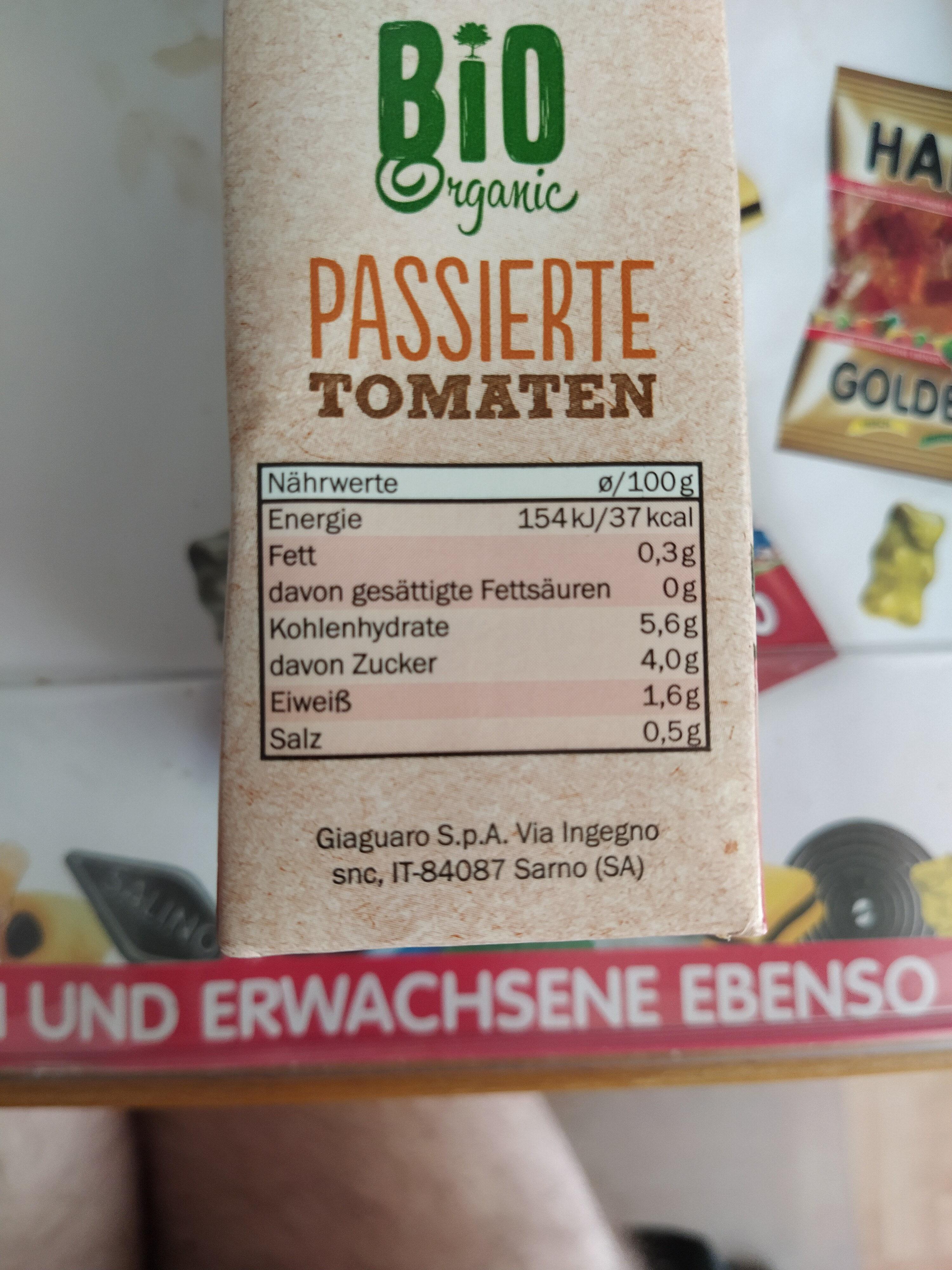 Tomaten - passiert - Nährwertangaben - de
