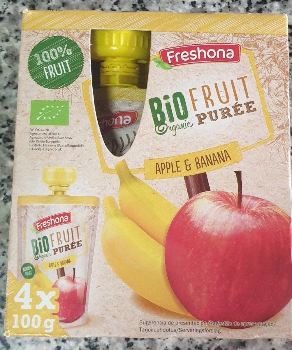 Freshona Fruit puree - Apple & Banana - Produit - de