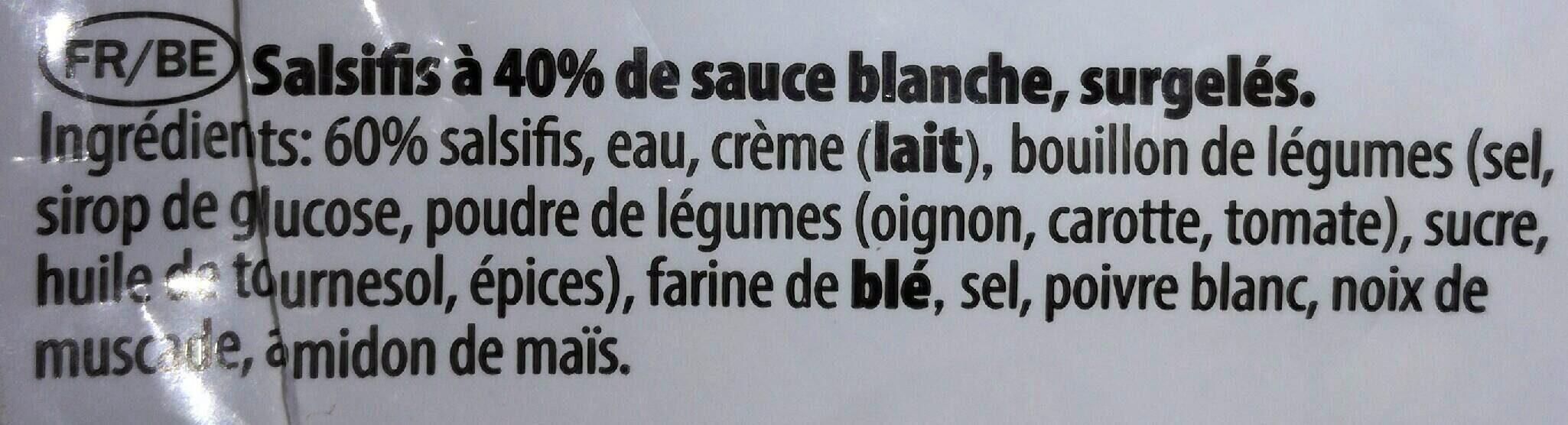 Salsifis à la sauce blanche - Ingrédients