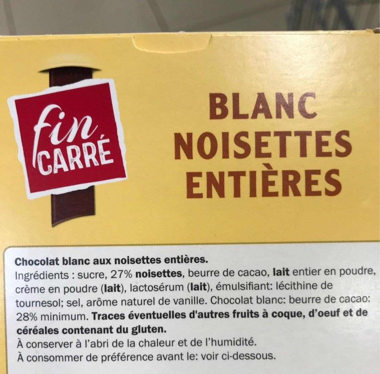Blanc noisette entières - Ingrédients - fr