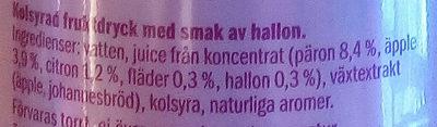 Saskia Smash Hallon - Ingredients