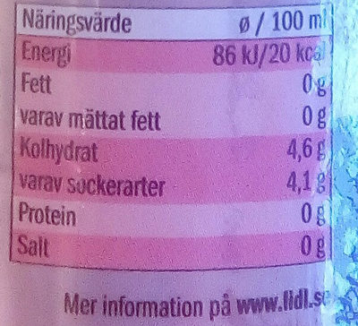 Saskia Smash Hallon - Nutrition facts