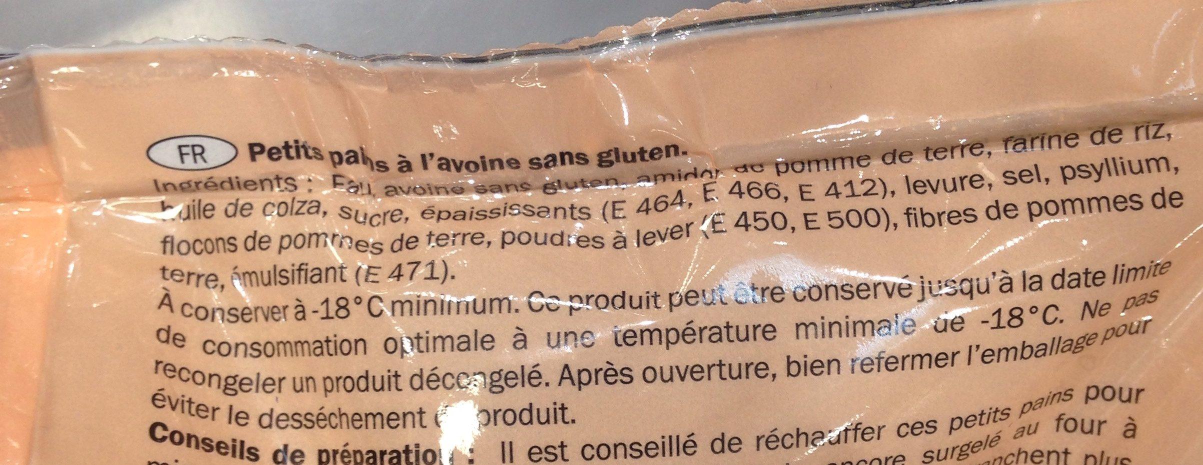 Oat rolls - Ingrediënten - fr