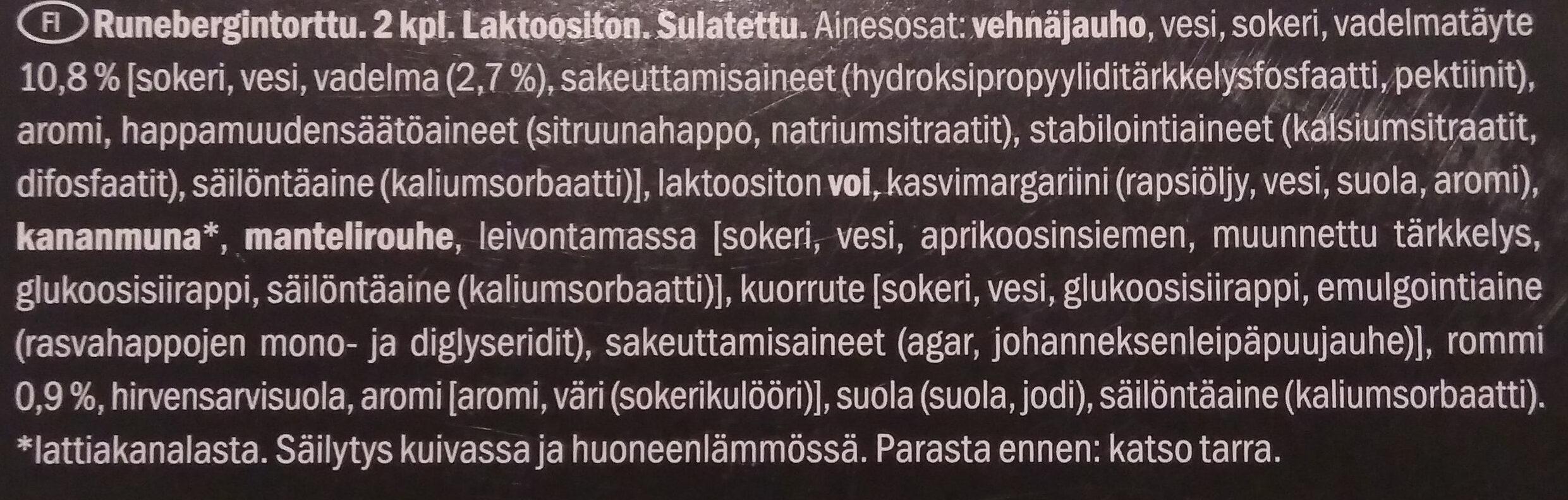 Runebergintorttu - Ingredients