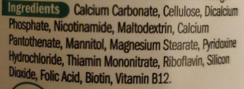 Vitamin B - Ingredients