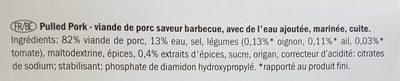 Pulled Pork - Inhaltsstoffe
