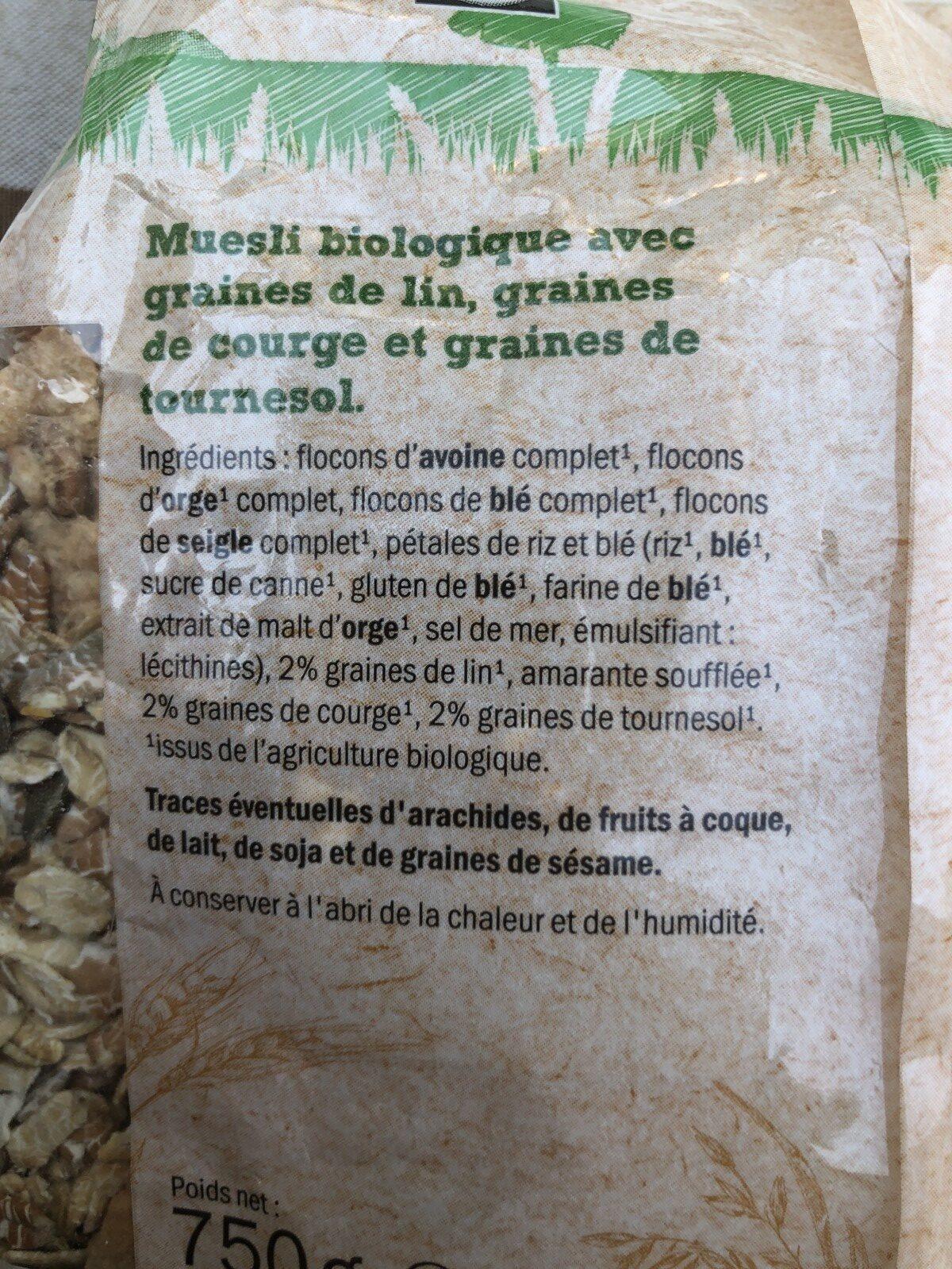 BioMuesli Multicéréales - Ingrédients - fr