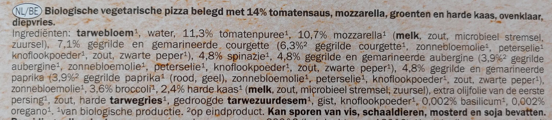 Pizza vegetables - Ingrediënten - nl