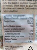 Bio risotto met eekhoorntjesbrood - Voedingswaarden - fr