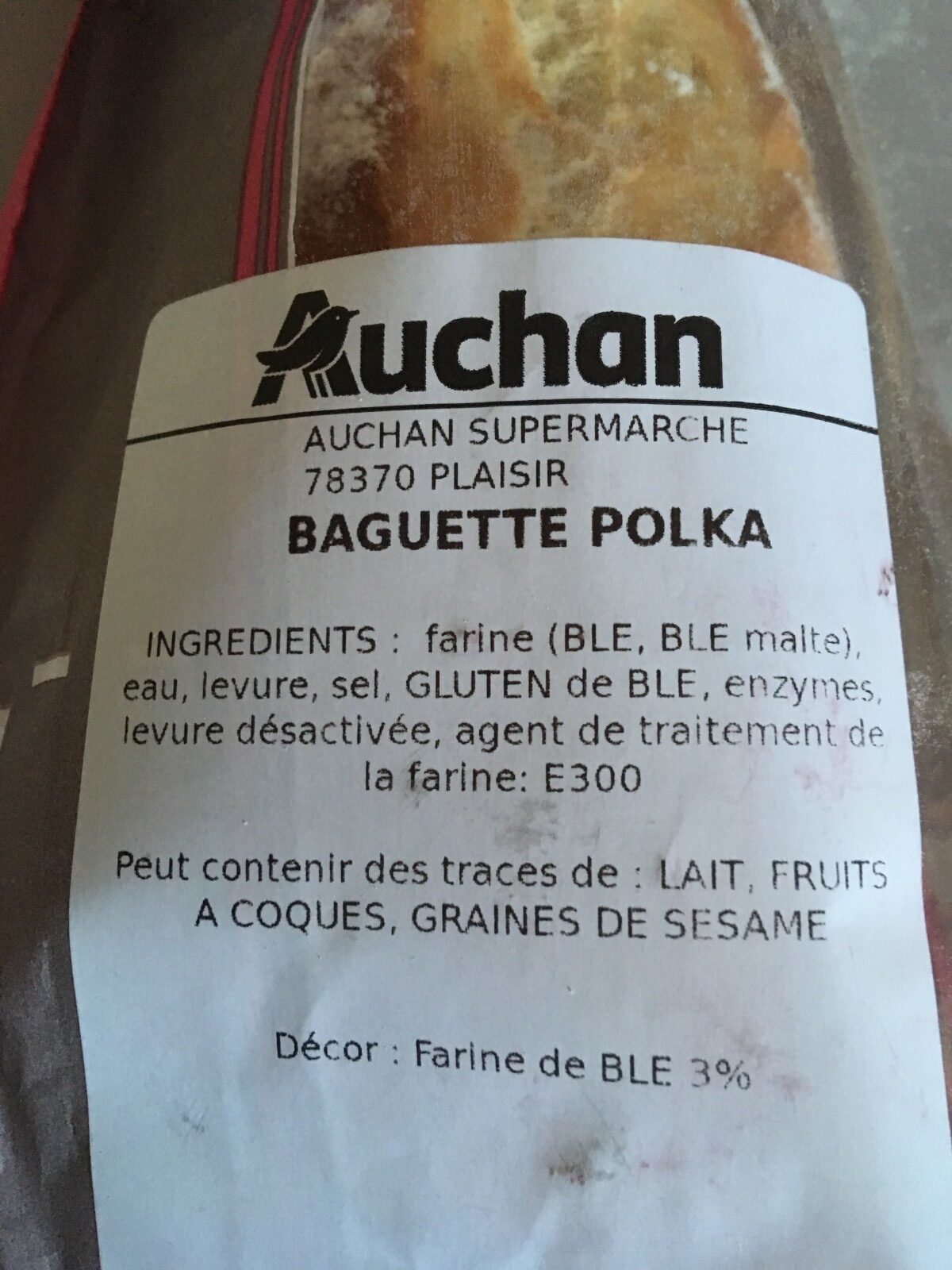 Baguette polka - Ingredienti - fr