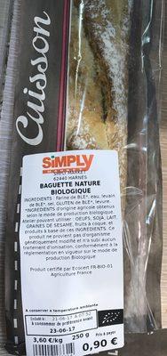 Baguette nature biologique - Product