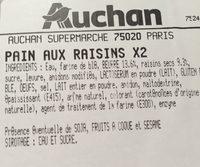 Pain aux raisins x2 - Ingrédients - fr