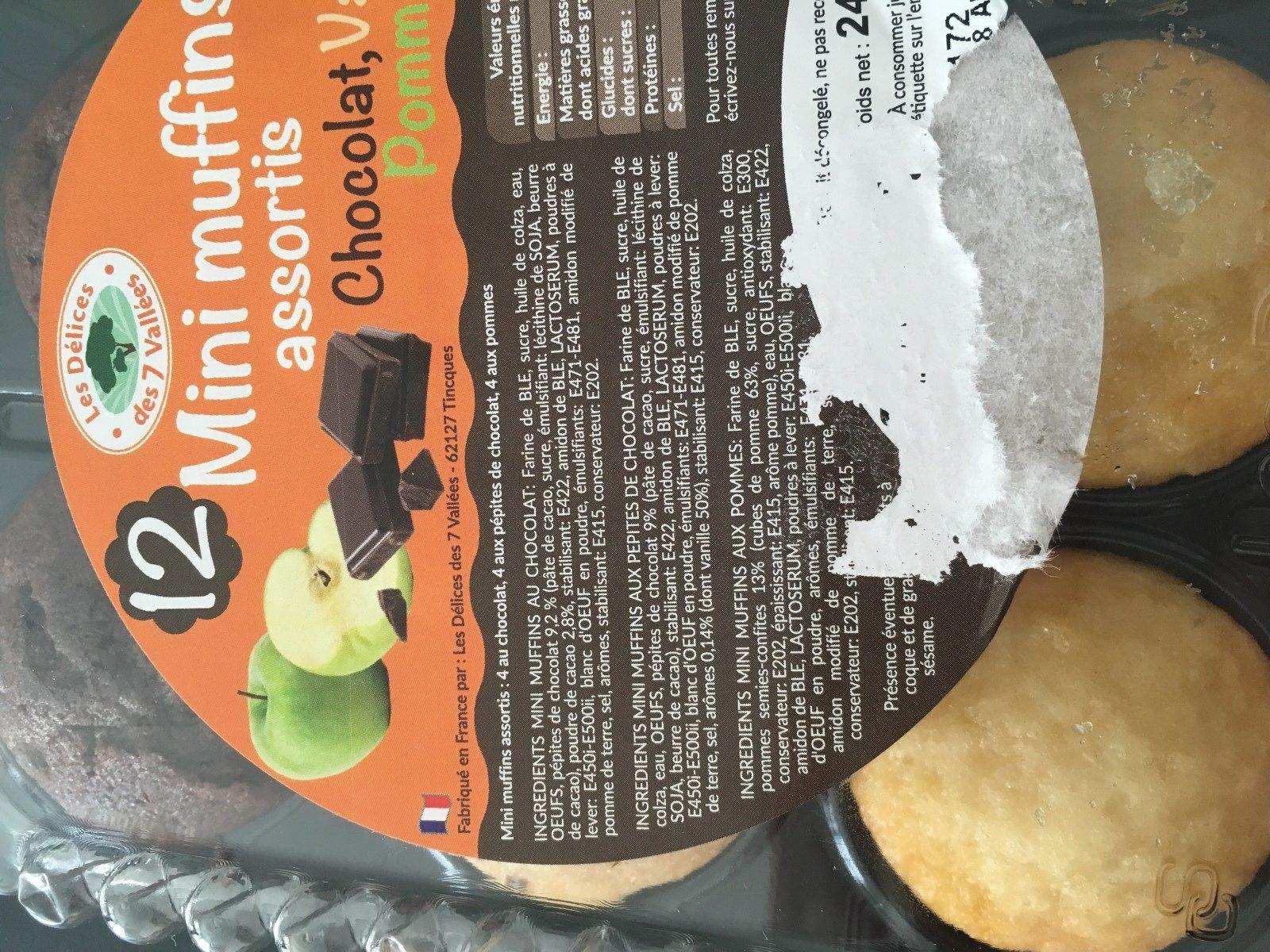 Mini muffins assortis - Ingrédients - fr