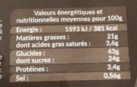 Mini muffins assortis - Informations nutritionnelles - fr