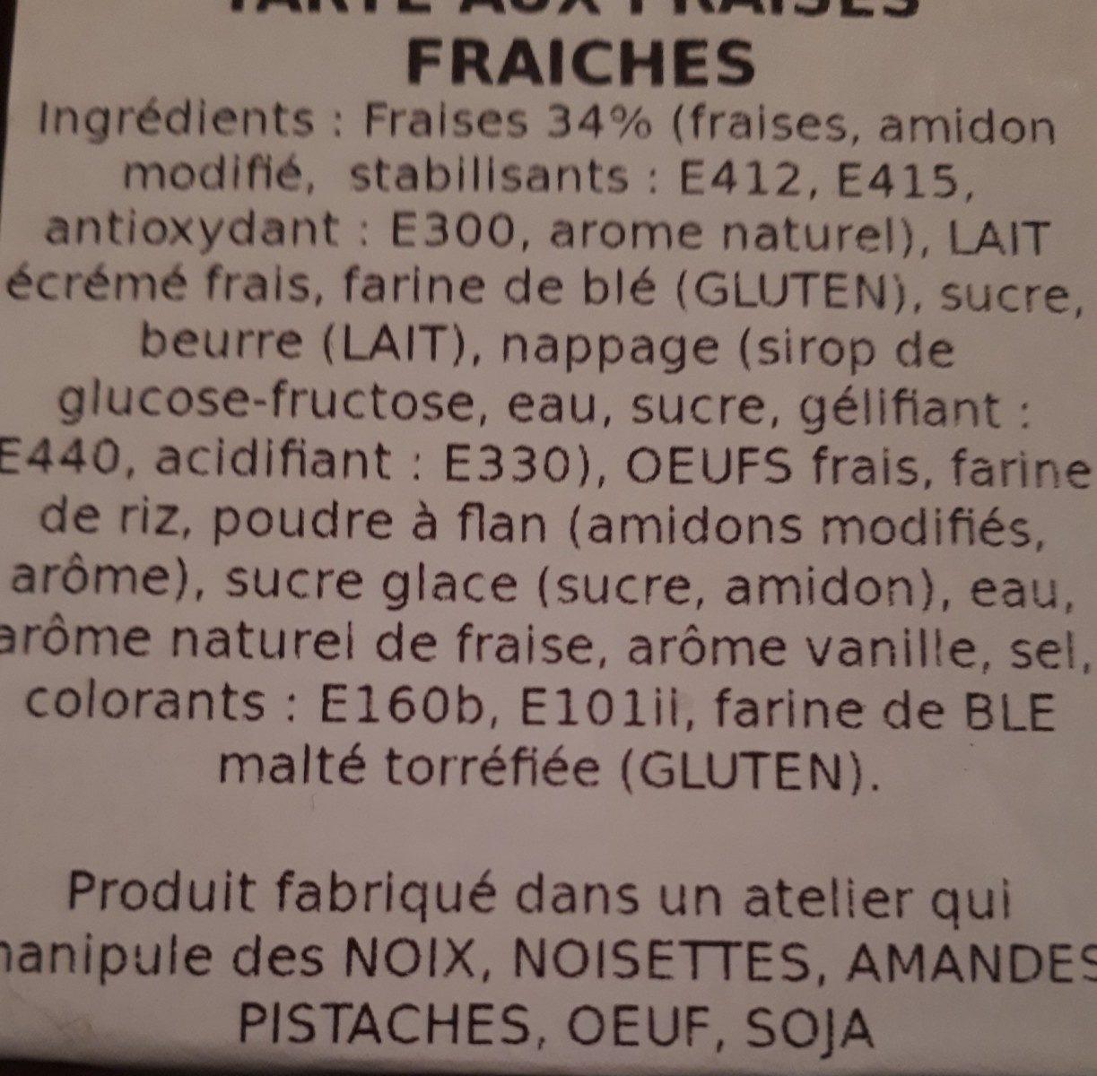 Tarte au fraises - Ingredients