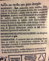 Muffins myrtille - Ingrédients - fr