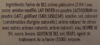 Pain crème pâtissière - Ingrediënten
