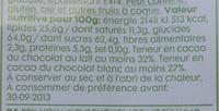 Oeufs Fourrés - Hema - 175 G - Informations nutritionnelles - fr