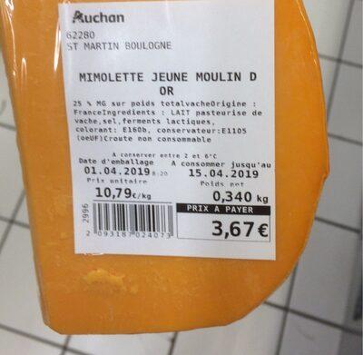 Mimolette jeune moulin d'or - Prodotto - fr