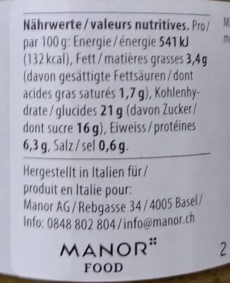 Pesto siciliano - Valori nutrizionali - en