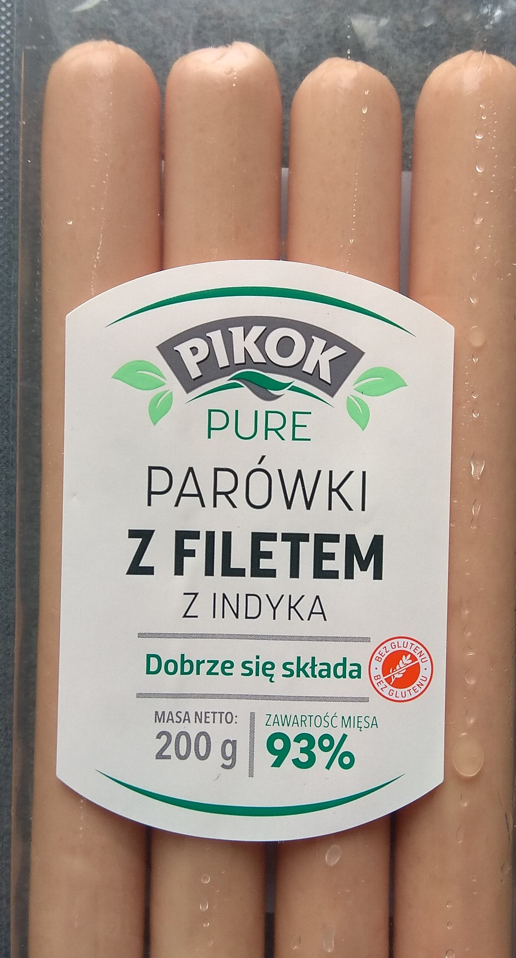Parówki z filetem z indyka - Produkt - pl