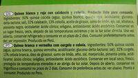 Quinoa calabacín y cebolla - Ingrédients