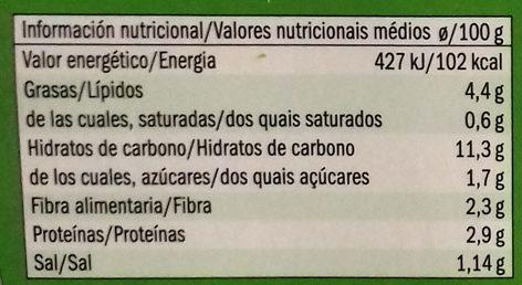 Quinoa calabacín y cebolla - Informations nutritionnelles