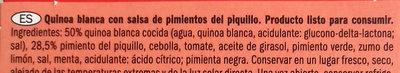 Quinoa to go - Ingrédients - es