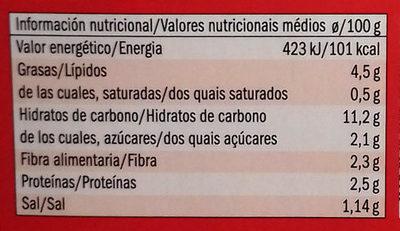 Quinoa to go - Informations nutritionnelles - es
