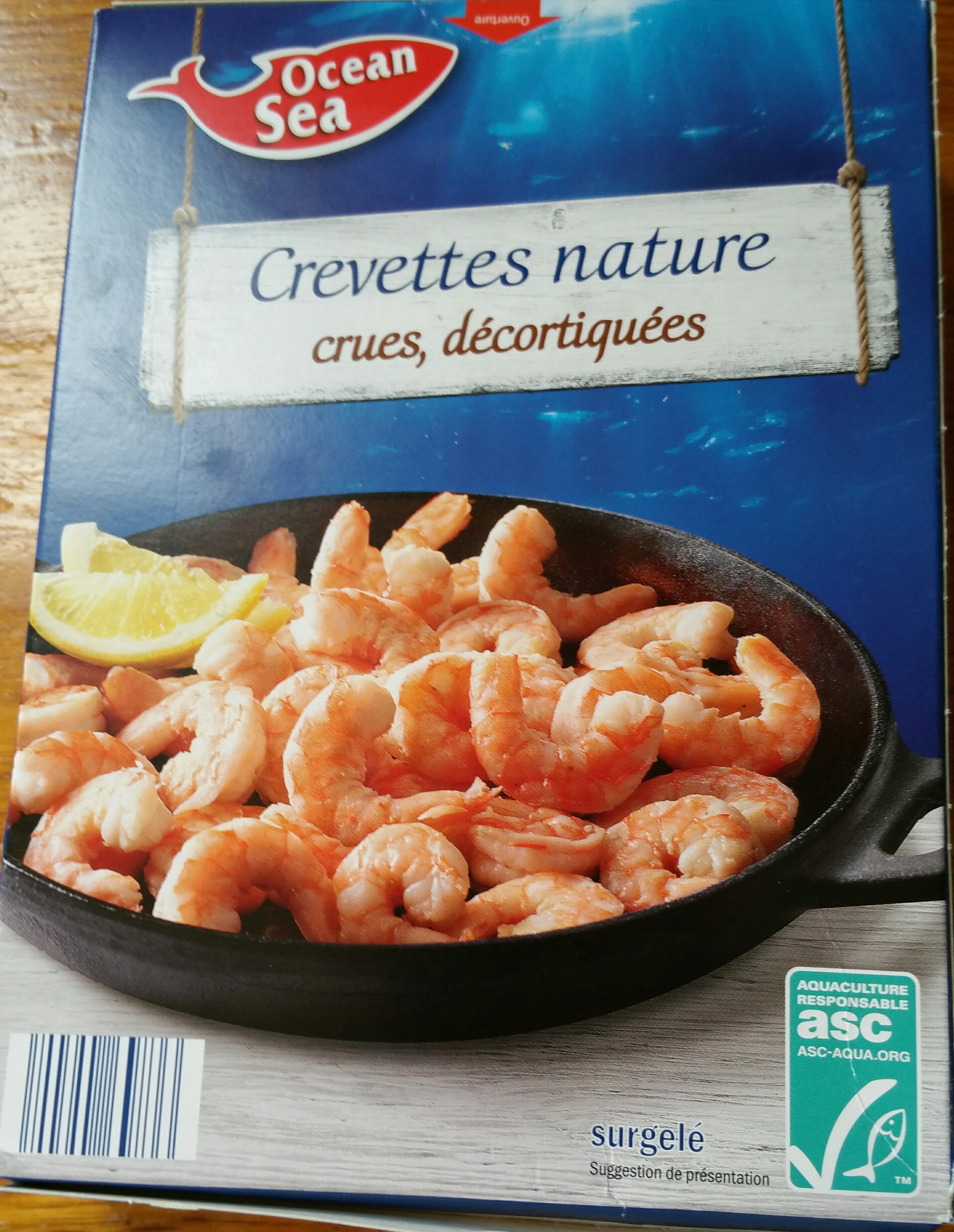 crevette nature - Product - fr