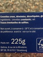 crevette nature - Ingrediënten - fr