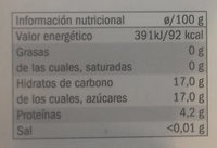 Cebolla negra - Información nutricional - es