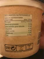 Fromage Blanc Bio - Nutrition facts - fr