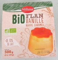 Flan vanille nappé caramel Bio - Produit - fr