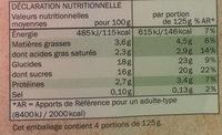 Flan Vanille Nappé Caramel - Informations nutritionnelles - fr