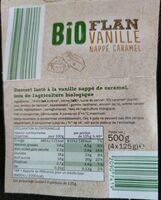 Flan vanille nappé caramel Bio - Informations nutritionnelles - fr